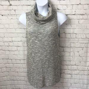 Cowl Neck Sleeveless Knit Tunic